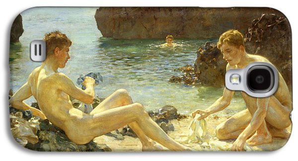 The Sun Bathers Galaxy S4 Case by Henry Scott Tuke