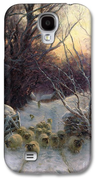 Winter Landscapes Galaxy S4 Cases - The Sun had closed the Winter Day Galaxy S4 Case by Joseph Farquharson
