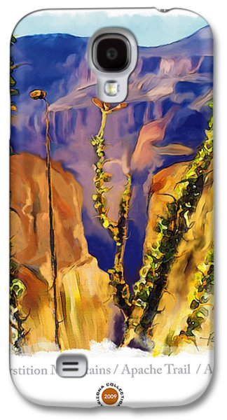 Impressionism Mixed Media Galaxy S4 Cases - The Superstition Mtns. AZ Galaxy S4 Case by Bob Salo