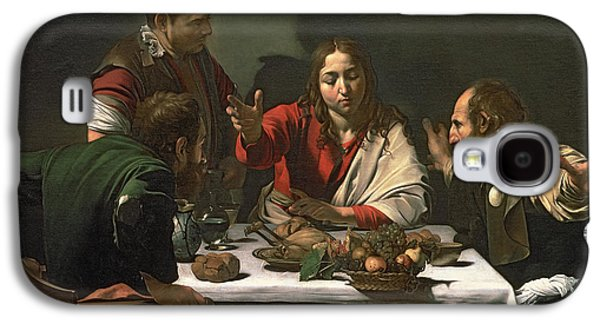 Blessings Paintings Galaxy S4 Cases - The Supper at Emmaus Galaxy S4 Case by Caravaggio