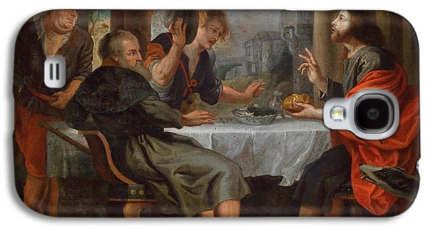 Peter Paul (1577-1640) Galaxy S4 Cases - The Supper at Emmaus Galaxy S4 Case by Celestial Images