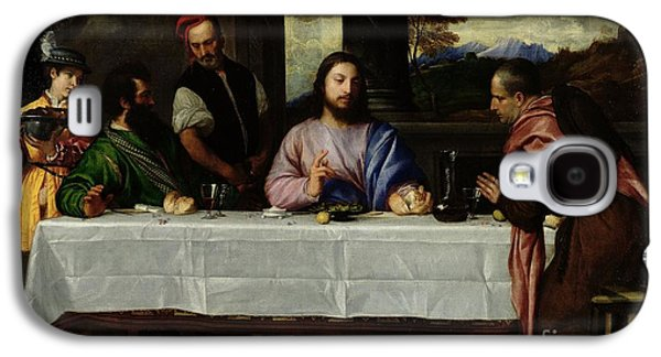 Blessings Paintings Galaxy S4 Cases - The Supper at Emmaus Galaxy S4 Case by Titian