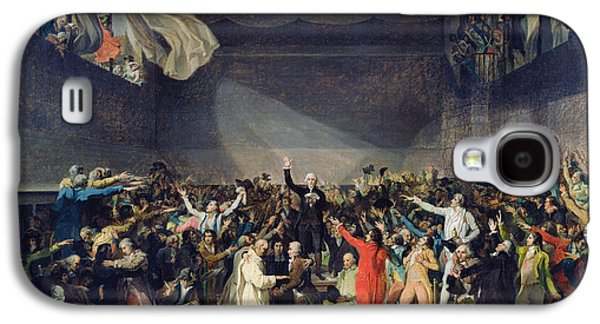 Constitution Galaxy S4 Cases - The Tennis Court Oath Galaxy S4 Case by Jacques Louis David