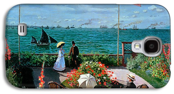 Flag Paintings Galaxy S4 Cases - The Terrace at Sainte Adresse Galaxy S4 Case by Claude Monet