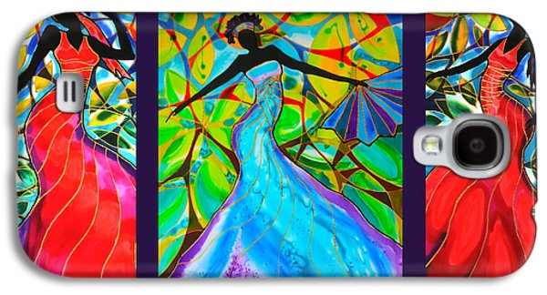African-americans Tapestries - Textiles Galaxy S4 Cases - The Three Graces of Caye Caulker Galaxy S4 Case by Lee Vanderwalker