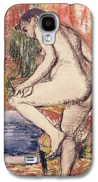 Nudes Pastels Galaxy S4 Cases - The Toilet Galaxy S4 Case by Edgar Degas