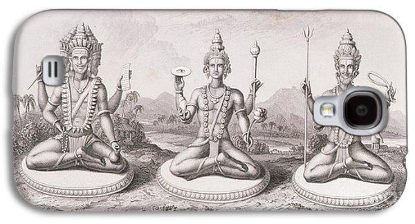 The Trimurti Or Hindu Trinity Galaxy S4 Case by English School