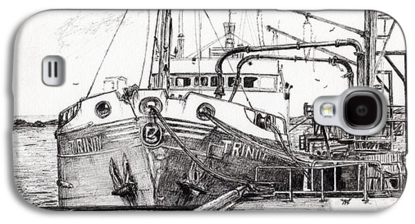 Sailboats Drawings Galaxy S4 Cases - The Trinity  Port Ellen  Isle of Islay Galaxy S4 Case by Vincent Alexander Booth