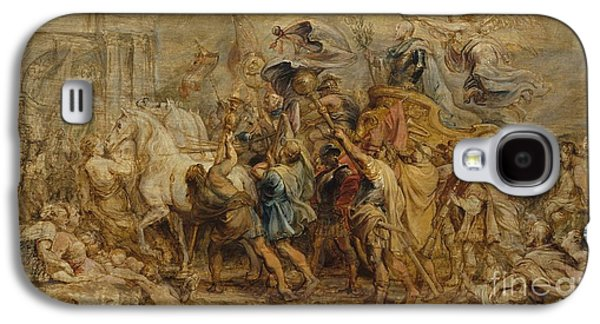 Peter Paul (1577-1640) Galaxy S4 Cases - The Triumph of Henry IV Galaxy S4 Case by Peter Paul Rubens