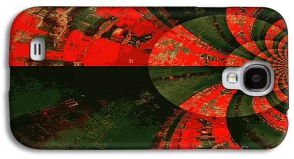 Abstract Digital Mixed Media Galaxy S4 Cases - The Tube Galaxy S4 Case by Carol Groenen