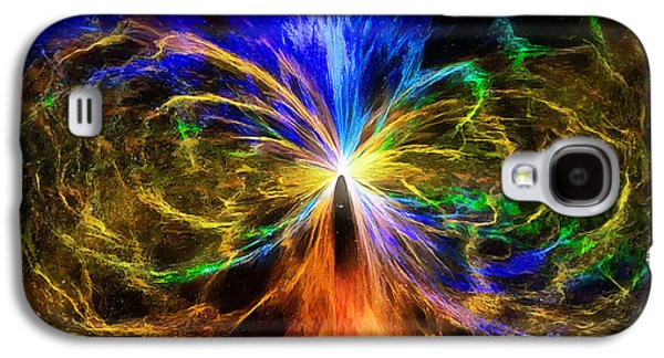 Constellations Paintings Galaxy S4 Cases - The umbilical cord of the universe Galaxy S4 Case by Sergey Lukashin