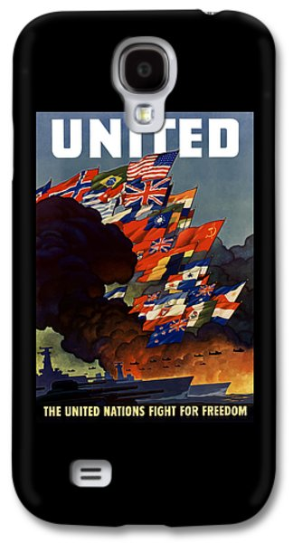 United States Government Galaxy S4 Cases - The United Nations Fight For Freedom Galaxy S4 Case by War Is Hell Store