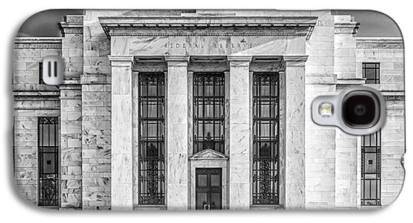 Enterprise Galaxy S4 Cases - The United States Federal Reserve BW Galaxy S4 Case by Susan Candelario