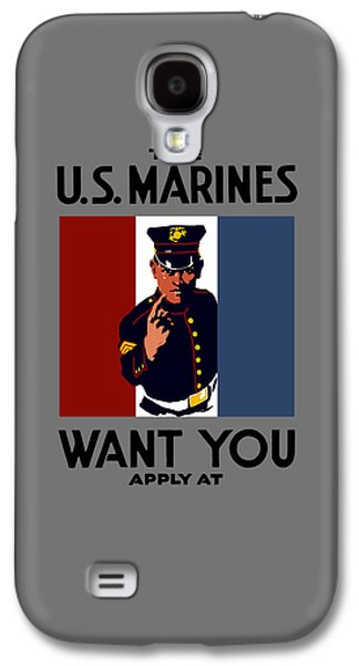 Vet Galaxy S4 Cases - The U.S. Marines Want You  Galaxy S4 Case by War Is Hell Store