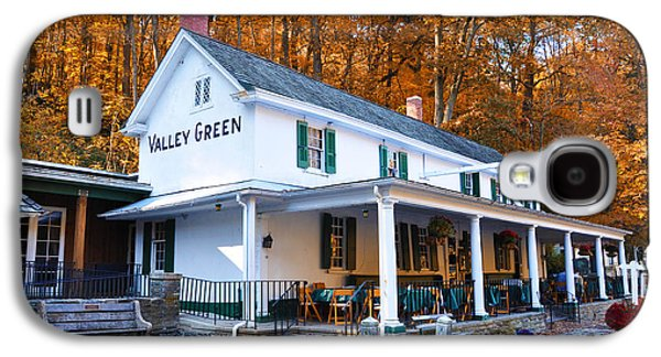 Fall Leaves Galaxy S4 Cases - The Valley Green Inn in Autumn Galaxy S4 Case by Bill Cannon