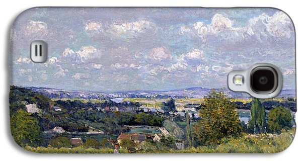 Haut Galaxy S4 Cases - The Valley of the Seine at Saint Cloud Galaxy S4 Case by Alfred Sisley