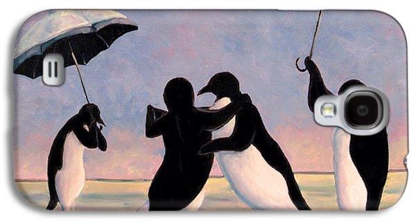 The Vettriano Penguins Galaxy S4 Case by Michael Orwick
