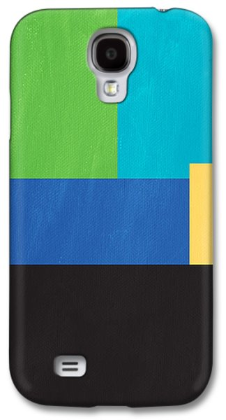Studio Mixed Media Galaxy S4 Cases - The View From Here- Modern Abstract Galaxy S4 Case by Linda Woods