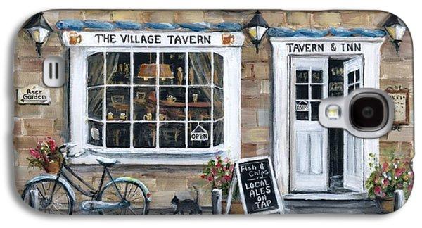 Garden Scene Galaxy S4 Cases - The Village Tavern Galaxy S4 Case by Marilyn Dunlap