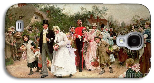 The Village Wedding Galaxy S4 Case by Sir Samuel Luke Fildes