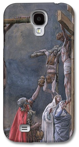 Vinegar Galaxy S4 Cases - The Vinegar Given to Jesus Galaxy S4 Case by Tissot