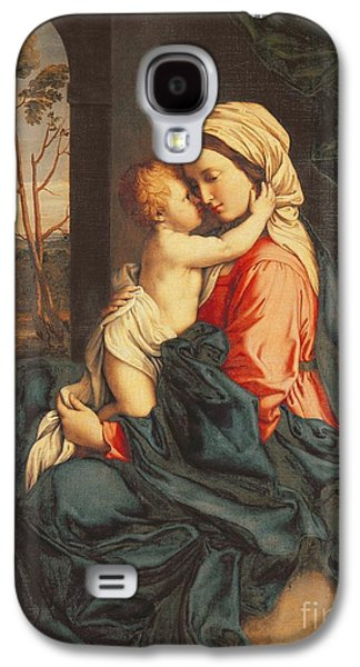 Jesus Christ Galaxy S4 Cases - The Virgin and Child Embracing Galaxy S4 Case by Giovanni Battista Salvi