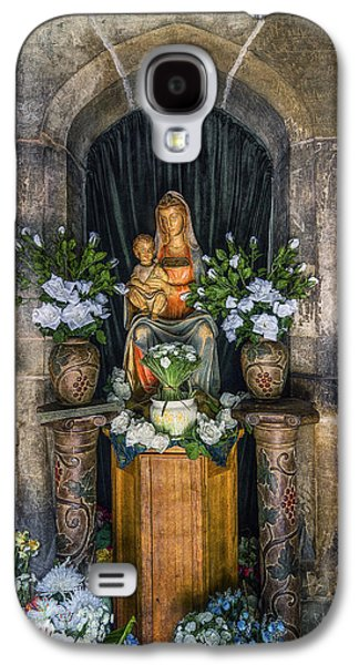 Mother Mary Digital Art Galaxy S4 Cases - The Virgin and Child  Galaxy S4 Case by Ian Mitchell