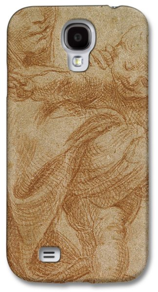 Jesus Pastels Galaxy S4 Cases - The Virgin and Child Galaxy S4 Case by Lodovico Carracci