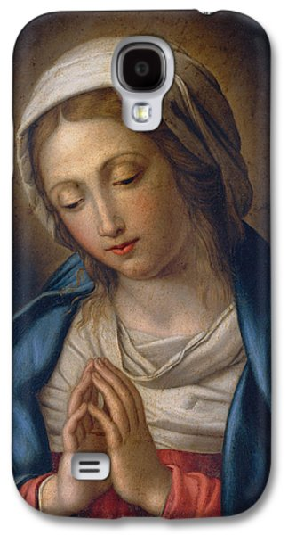 Praying Hands Galaxy S4 Cases - The Virgin at Prayer Galaxy S4 Case by Il Sassoferrato