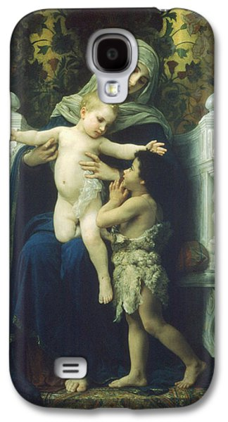 Christ Child Galaxy S4 Cases - The Virgin Baby Jesus and Saint John the Baptist Galaxy S4 Case by William Bouguereau