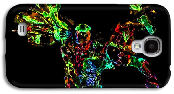 Crime Fighter Galaxy S4 Cases - The Vision Paint Splatter Galaxy S4 Case by Brian Reaves