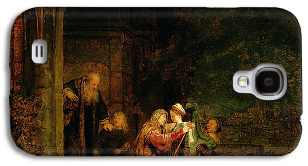 Columns Galaxy S4 Cases - The Visitation Galaxy S4 Case by  Rembrandt Harmensz van Rijn