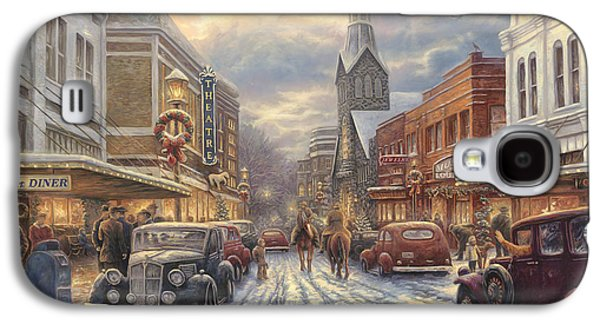 Edition Galaxy S4 Cases - The Warmth of Small Town Living Galaxy S4 Case by Chuck Pinson