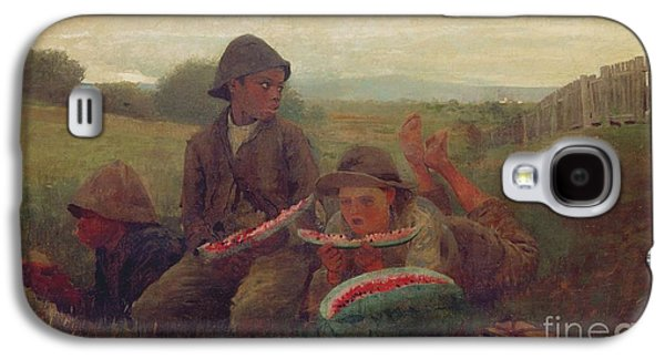 The Watermelon Boys Galaxy S4 Case by Winslow Homer