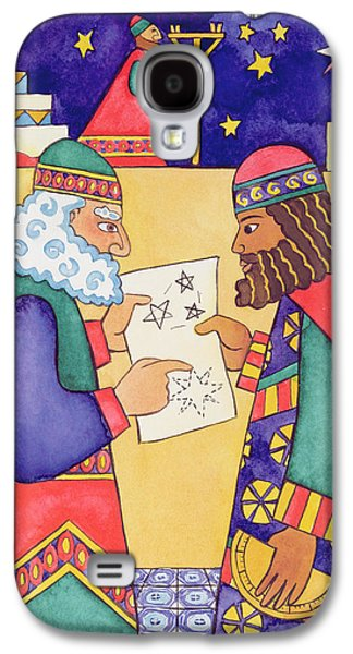 The Wise Men Looking For The Star Of Bethlehem Galaxy S4 Case by Cathy Baxter