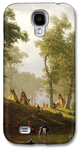 The Wolf River - Kansas Galaxy S4 Case by Albert Bierstadt