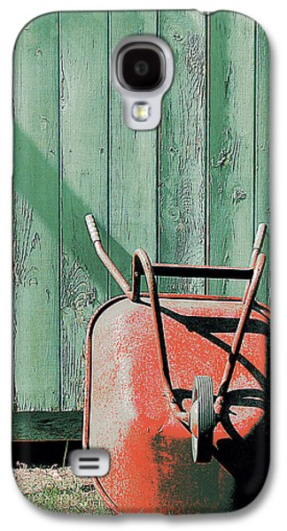 Nature Abstracts Galaxy S4 Cases - The Wonderful Wheelbarrow Galaxy S4 Case by Lori Pessin Lafargue