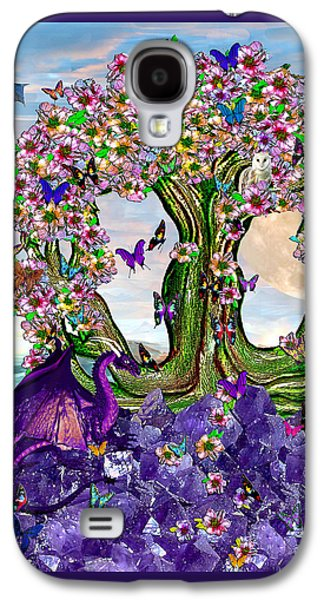 Ancient Galaxy S4 Cases - The World Tree Spring Equinox Dragons Galaxy S4 Case by Michele  Avanti