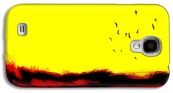 Abstract Landscape Galaxy S4 Cases - The yellow moment Galaxy S4 Case by Sir Josef  Putsche