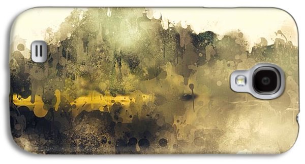 Nature Abstract Galaxy S4 Cases - The Yellow Path Galaxy S4 Case by Stefan Kuhn