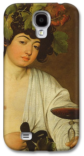 Red Wine Prints Galaxy S4 Cases - The Young Bacchus Galaxy S4 Case by Caravaggio