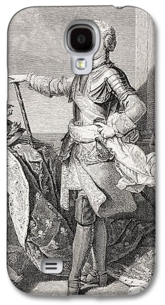 Youthful Drawings Galaxy S4 Cases - The Young King Louis Xv Of France, 1710 Galaxy S4 Case by Ken Welsh