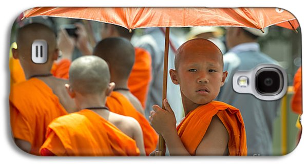 Buddhist Monk Galaxy S4 Cases - The Young Monk  Galaxy S4 Case by Rob Hawkins