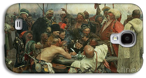 The Zaporozhye Cossacks Writing A Letter To The Turkish Sultan Galaxy S4 Case by Ilya Efimovich Repin