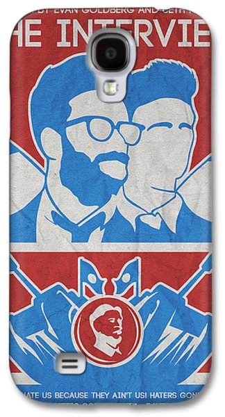 Moral Paintings Galaxy S4 Cases - Theminimalist Movie Poster- The Interview Galaxy S4 Case by Celestial Images