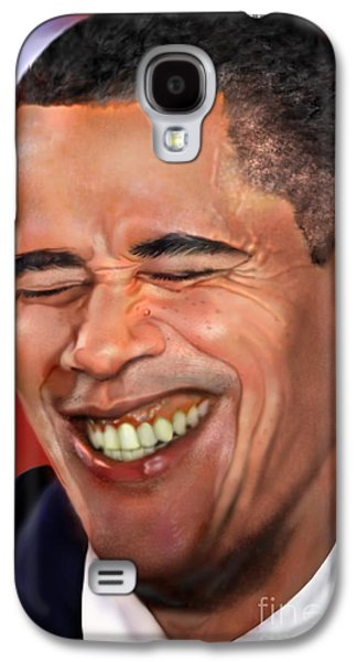 Democrat Paintings Galaxy S4 Cases - They called me Mr. President 1 Galaxy S4 Case by Reggie Duffie