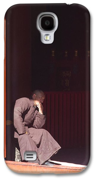 Person Galaxy S4 Cases - Thinking Monk Galaxy S4 Case by Sebastian Musial