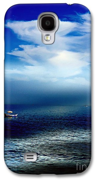 Interior Scene Mixed Media Galaxy S4 Cases - Thinking Time Galaxy S4 Case by Clare Bevan