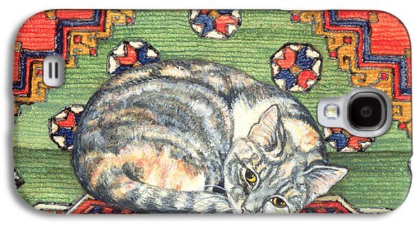 Persian Carpet Galaxy S4 Cases - Third Carpet Cat Patch Galaxy S4 Case by Ditz