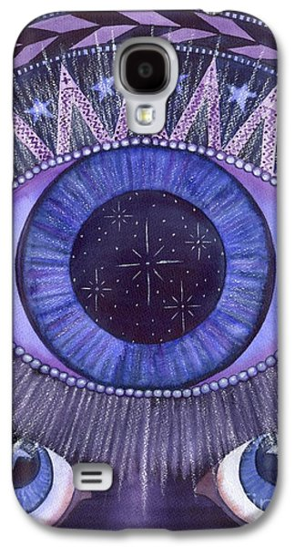 Chakra Paintings Galaxy S4 Cases - Third Eye Chakra Galaxy S4 Case by Catherine G McElroy